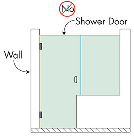 Knee Wall Shower Door