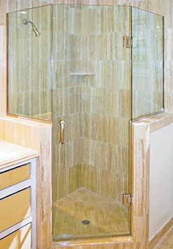 corner shower glass walls. Note for Neo Angle Showers and Knee Walls Shower Construction Guide  Dulles Glass
