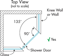Neo Angle Knee Walls Top View