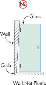 ... the glass  out of square  to accommodate the difference. However this will add cost to your shower so making sure that the walls are constructed ...  sc 1 st  Dulles Glass & Shower Construction Guide | Dulles Glass