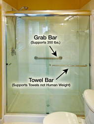 Grab Bar and Towel Bar
