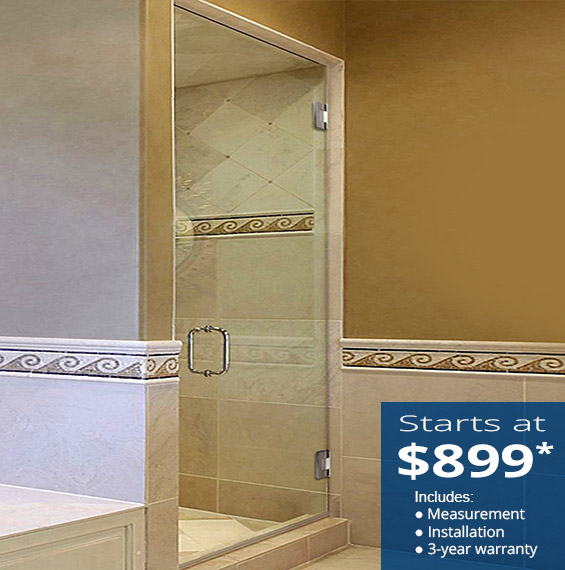 Single Glass Shower Doors Dulles Glass