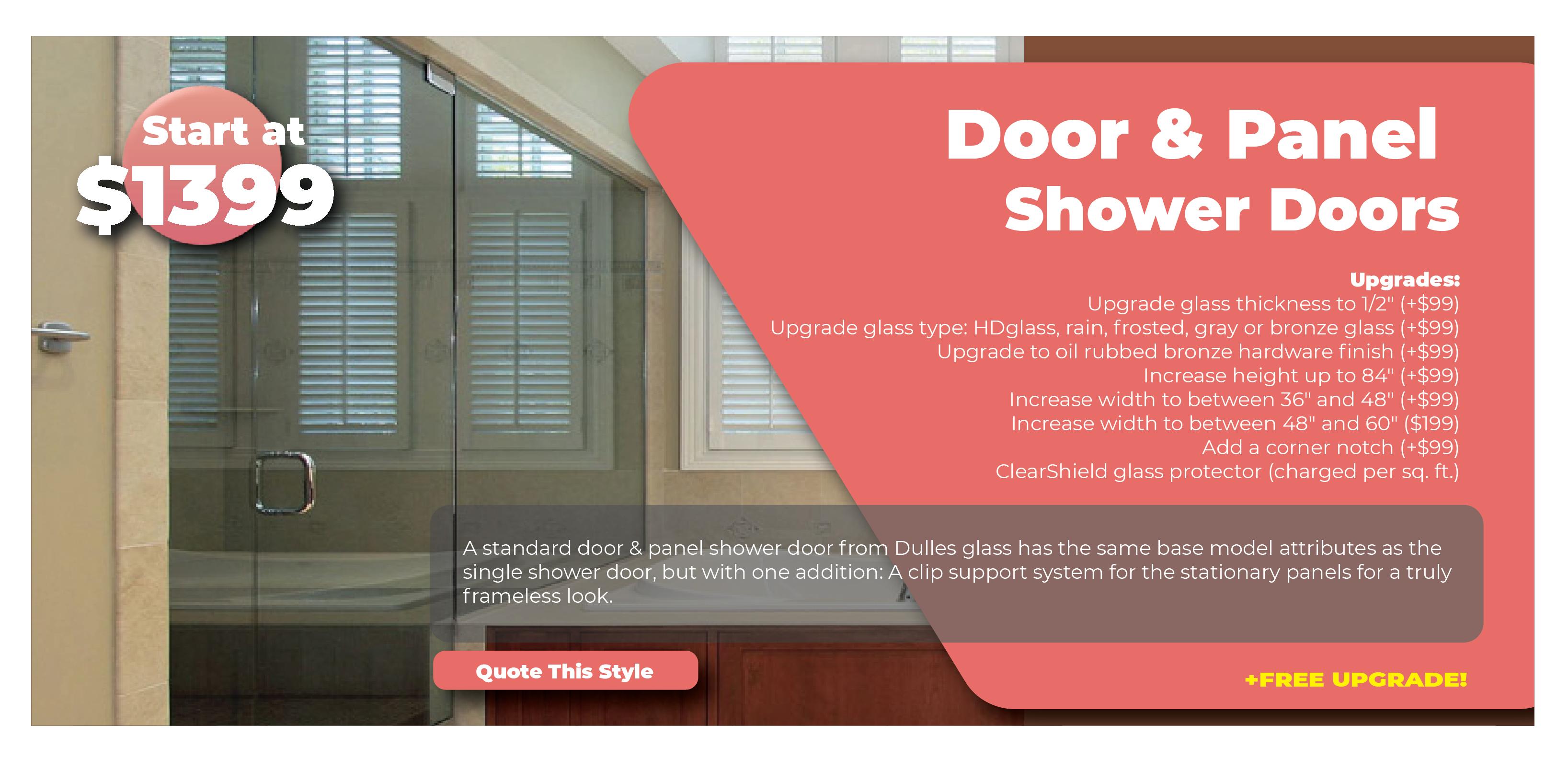 Door and Panel Shower Doors Promo