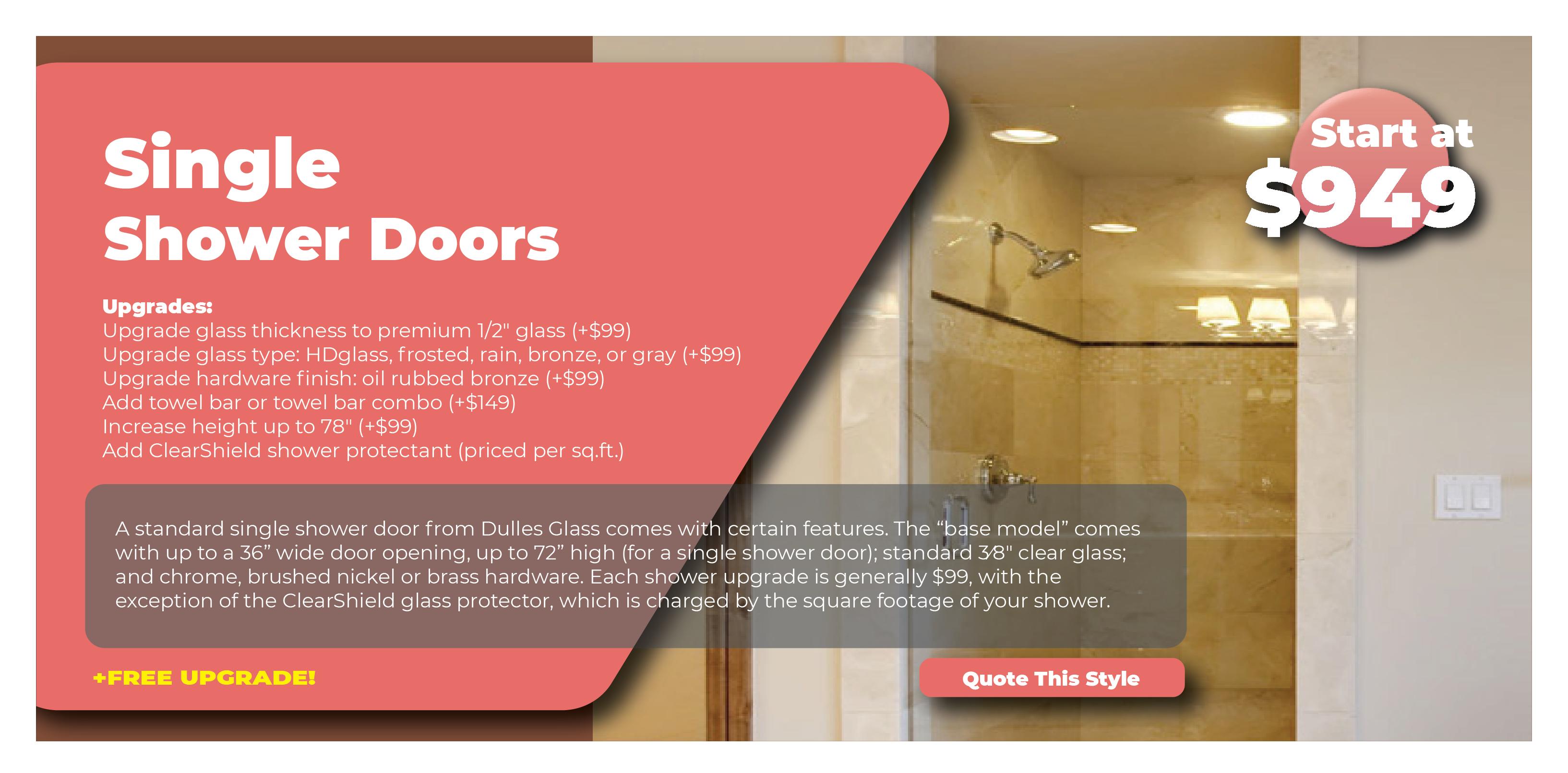 Single Shower Doors Promo